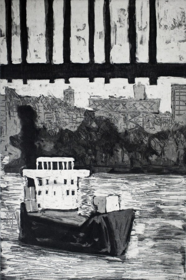 The Claudia II, Sydney, 2011  Artist: Julian Twigg  Medium: Soap ground etching  Dimensions: 49.5 x 32 cm  Edition: 3