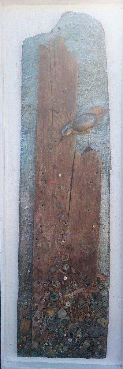 """Story Seeds"" by Nicola White - Thames mudlarking finds on Thames driftwood  https://twitter.com/TideLineArt/status/771574715034894336?s=03"