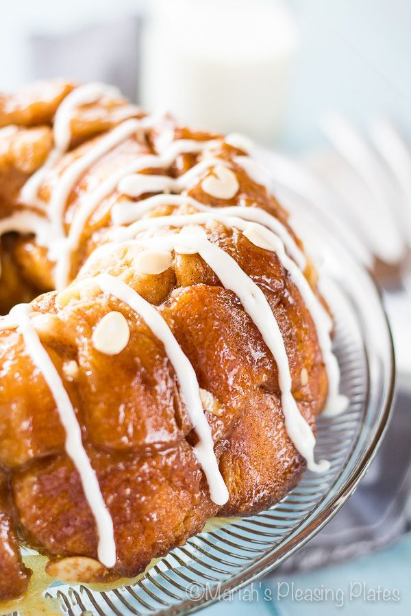 Decadent Bear Claw Monkey Bread is the perfect way to wake up on the weekends. This easy and sweet almond breakfast treat tastes just like an old fashioned bear claw without all the hard work.