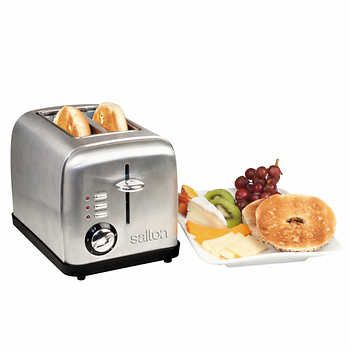 Salton Electronic Stainless Steel 2-Slice Toaster