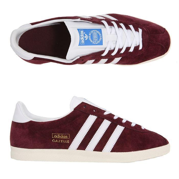 Chaussures Adidas Gazelle Bordeaux | Chaussure adidas gazelle ...