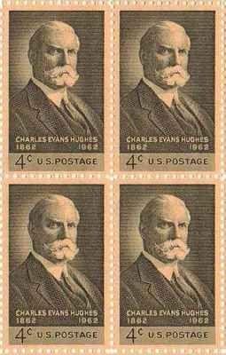 Charles Evans Hughes Set of 4 x 4 Cent US Postage Stamps NEW Scot 1195 . $4.70. Charles Evans Hughes Set of 4 x 4 Cent US Postage Stamps NEW Scot 1195