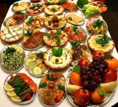 You gotta love a persian food table