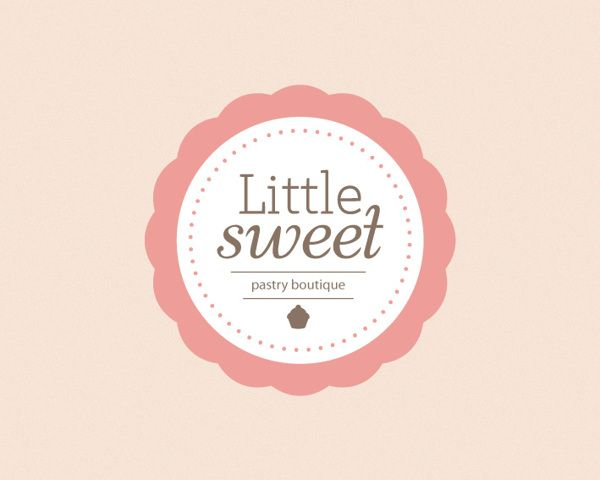 pastry shop , pastry boutique Little sweet Logo by Sanja Veljanoska, via Behance