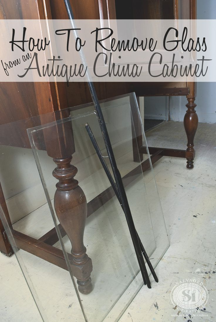 A simple tutorial on How to Remove the Glass and Fretwork from those Antique China Cabinets for flawless refinishing or painting!