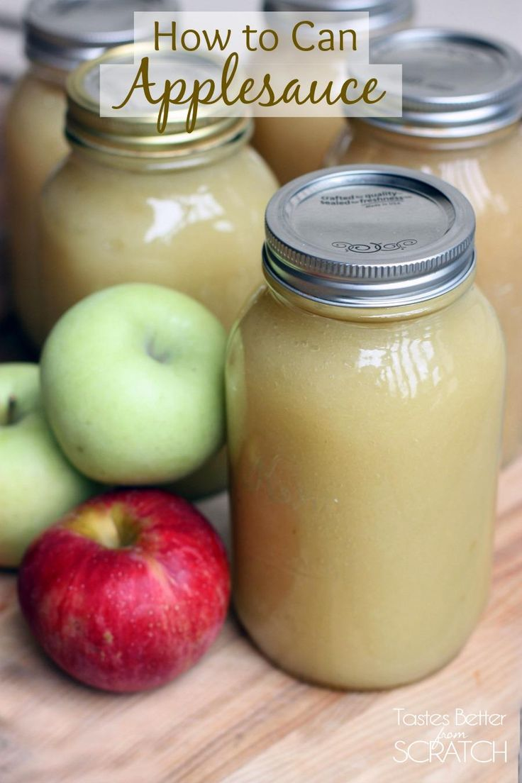 How to Can Applesauce -- EASY recipe and Tutorial on TastesBetterFromScratch.com