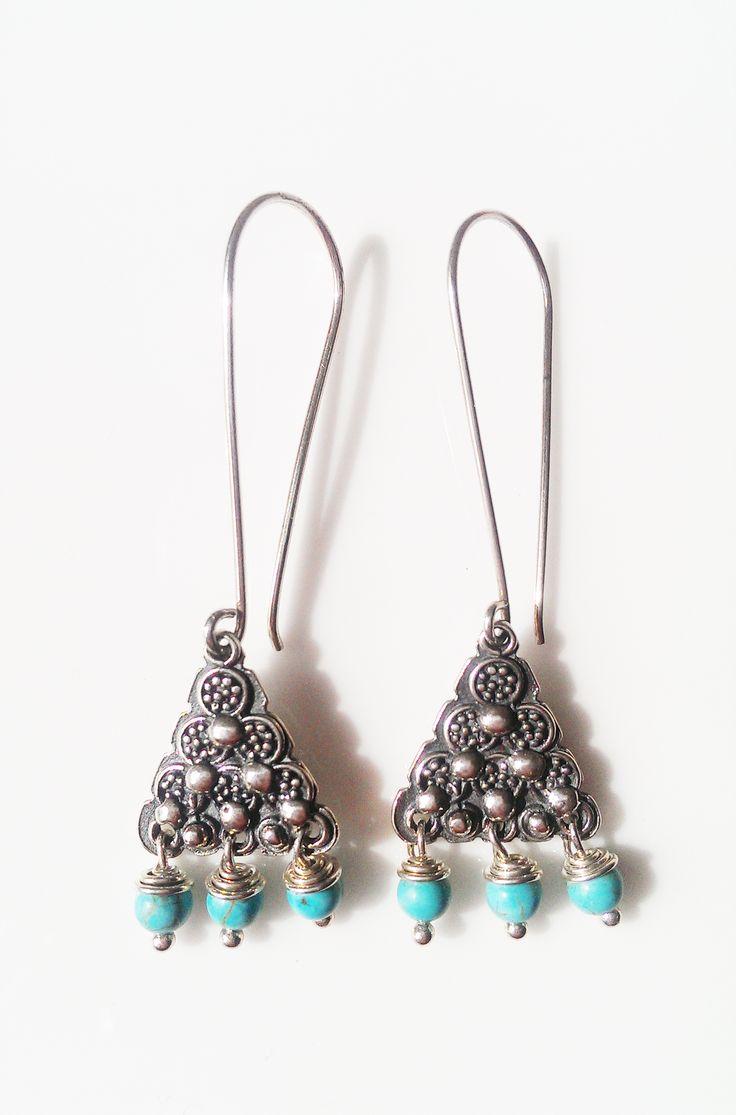 Santanna Blue Howlite Sterling Silver Earrings