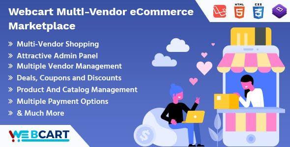 Web-cart Multi-Vendor eCommerce Marketplace Nulled   Nulled
