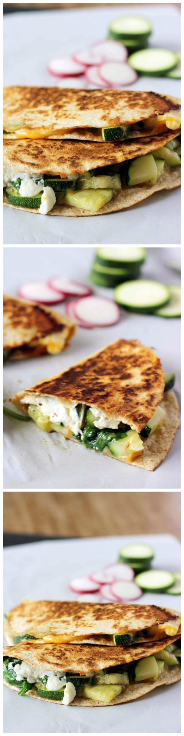 Zucchini and Spinach Quesadillas are a delicious, simple meal that can ...