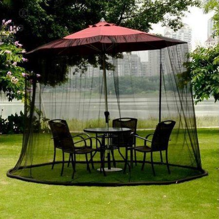 buy 10ft bug screen for outdoor canopy patio table over the umbrella cover