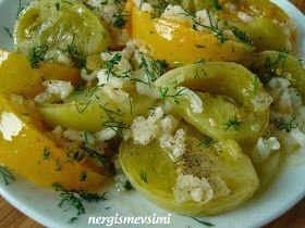 Yeşil domates yemeği tarifi Yeşil domates yemeği nasıl yapılır Sonbaharın son günlerinde tarlalardaki son domateslerde pazarlard...