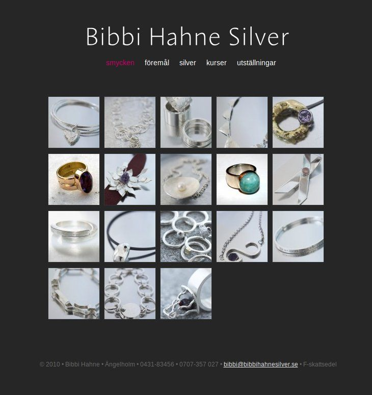 Gaia Design Portfolio - Bibbi Hahne Silver website