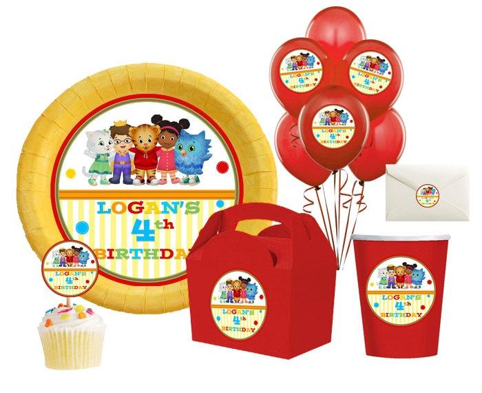 Daniel Tigers Neighborhood Printable Birthday party,hershey kisses, goodie bags,balloons,cupcake toppers,centerpiece, stickers -  Digital. $6.00, via Etsy.