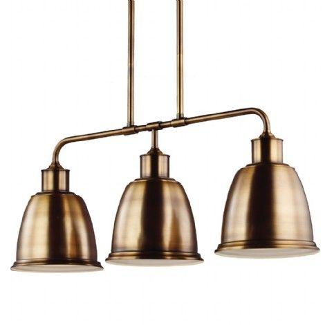 Suspendu or antique, idéal pour ilot, cuisine ou salle à manger.