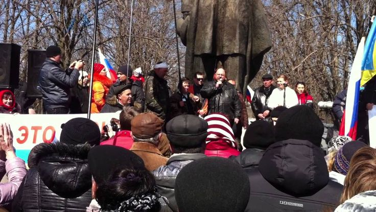 Шахтер ВЗОРВАЛ митинг правдой. 30.03.2014