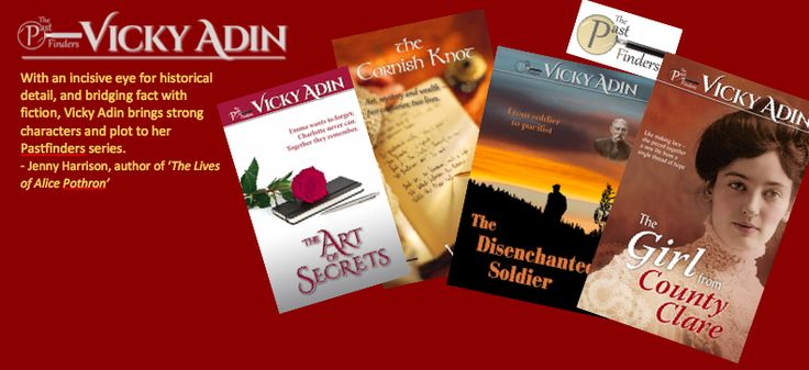 Historical fiction books. Two set in 19th century. Two are contemporary novels with characters who searchout their past.