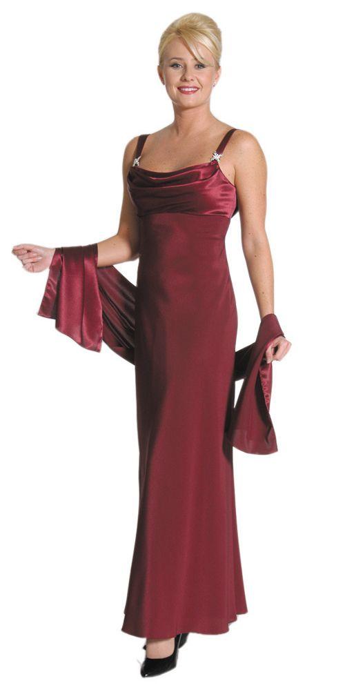 bling bridesmaids dresses   Rhinestone Detail Strap Satin Bust Ankle Length Bridesmaid Dress ...