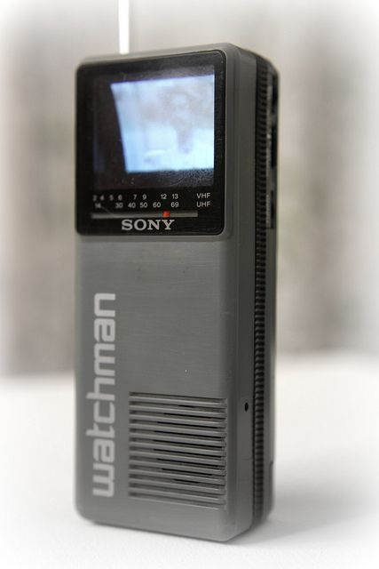Sony Watchman - When I was a kid I thought this was so awesome - even if it could only pick up a few TV channels!