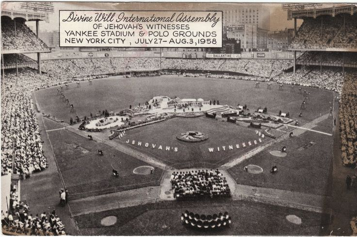 On This Date, Jehovah's Witnesses Made Yankee Stadium History- August 3, 1958 convention total 123,707 in attendance.