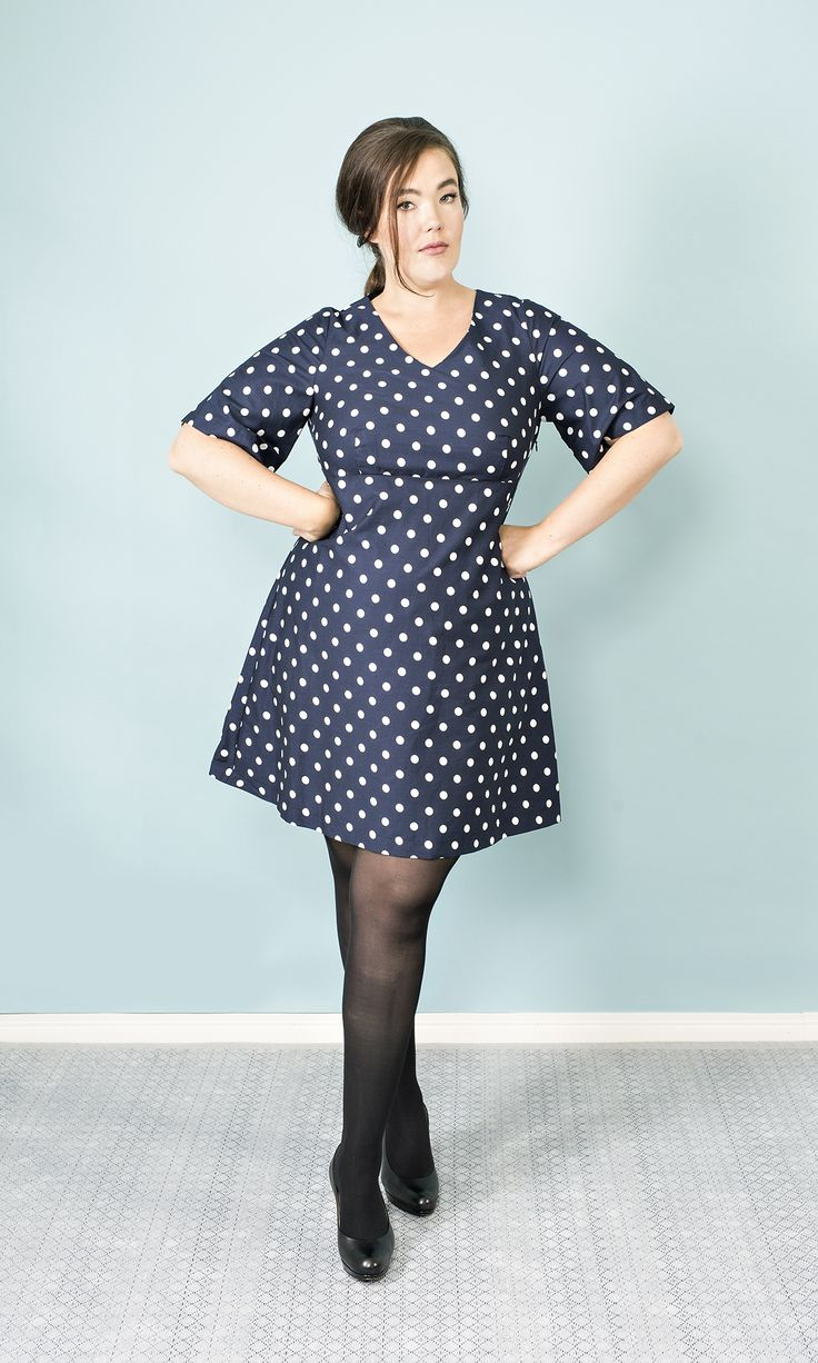Mia Polka Dot Dress Navy Photo: Minna Kurjenluoma Muah: Satu Arvo Model: Ninja Sarasalo