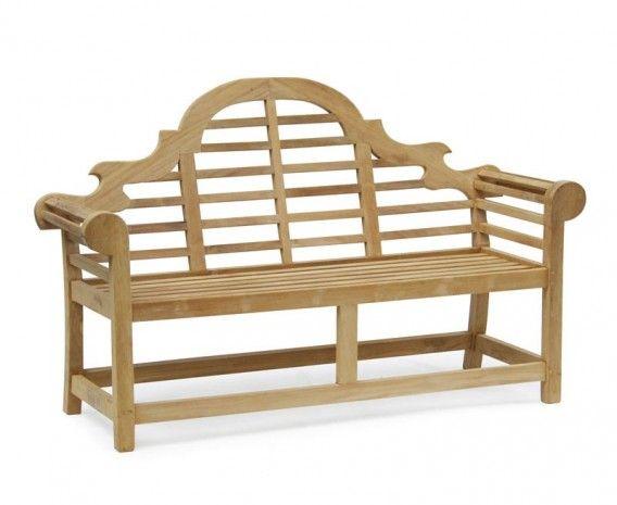 Teak Lutyens Bench 1.65m #benches #teak #corido #gardenfurniture