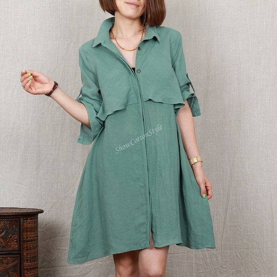 Hey, I found this really awesome Etsy listing at https://www.etsy.com/listing/197717508/emerald-green-women-loose-shirt-casual