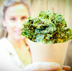 The BEST raw, vegan kale chips EVER.  Better then the $8 per bag stuff and WAY better priced when you make your own!