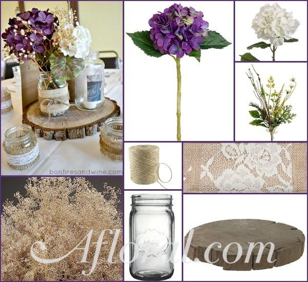 Decorate your rustic wedding with high quality faux