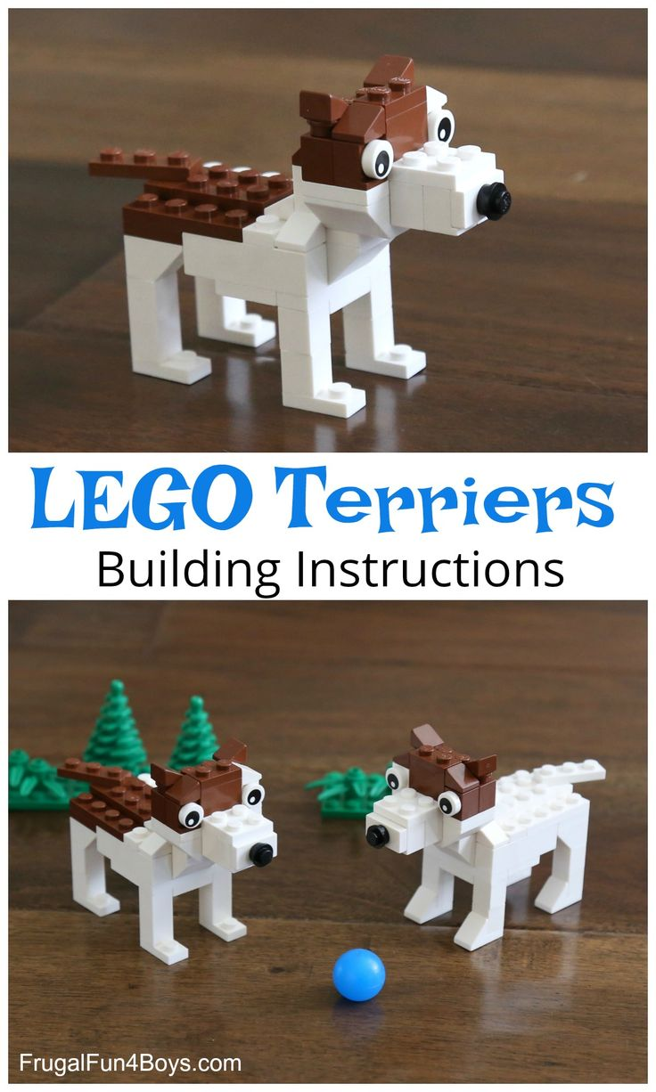 Build a Terrier Dog with LEGO® Bricks - Building instructions in the post.