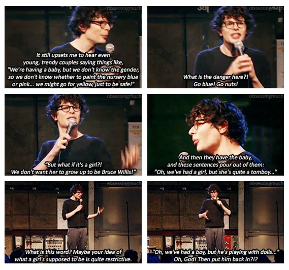 Simon Amstell on gender and parents.