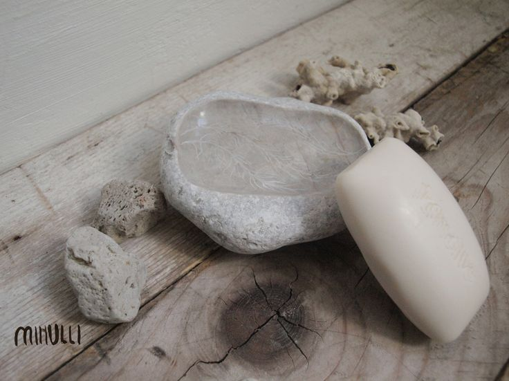 domácí lázně Mýdelnička z mořského oblázku krémového mramoru, z břehů mé Sicílie...