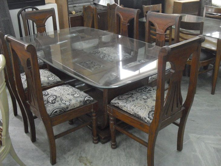 Seater Dining Table Glass Top With Second Hand Dining Room Tables.