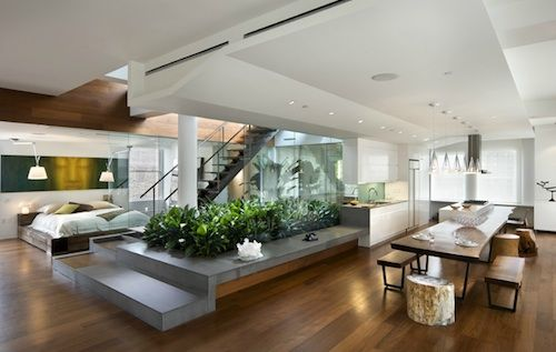 interior of New York City Loft by Joel Sanders