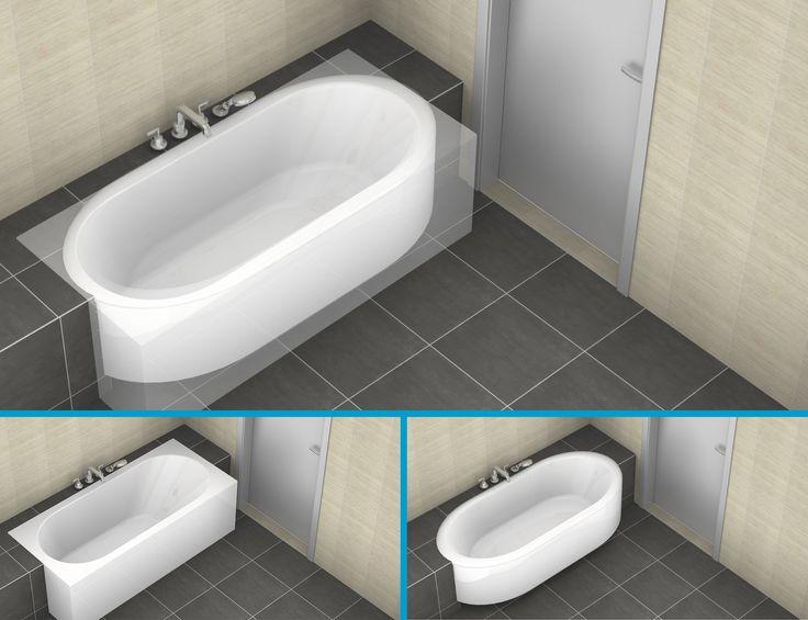 Een ovaal bad vs een recht bad