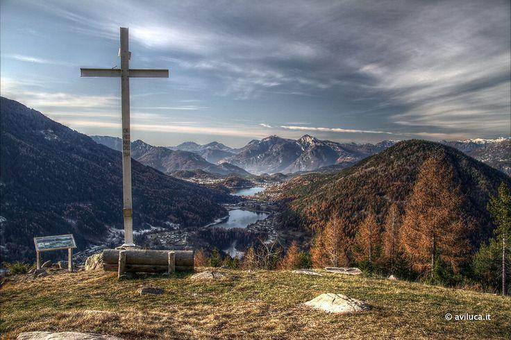 Panoramica dell'Altopiano di Piné realizzata con 5 esposizioni per un miglior effetto HDR...