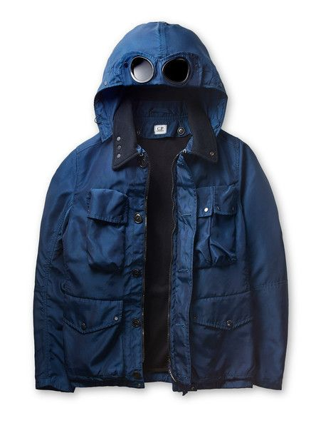 C.P. Company - NYSACK High Tenacity Nylon Broad Cloth Goggle Jacket in Blue