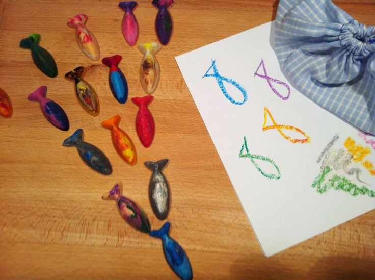 Handmade fishes wax crayons #waxcrayons #lfisheswaxcrayons #handmadecrayons #kidsstuff #almanogr