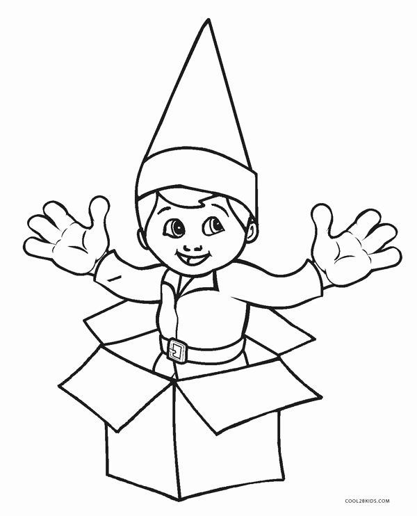 Elf On The Shelf Coloring Page Unique Free Printable Elf Coloring Pages Fo Printable Christmas Coloring Pages Christmas Coloring Pages Printable Coloring Pages