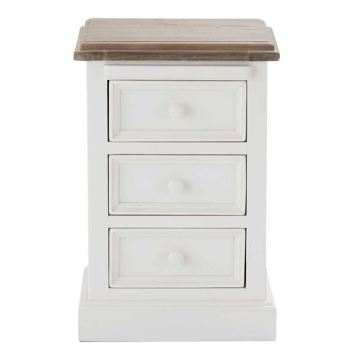 Mansfield White Painted Bedside Cabinet.