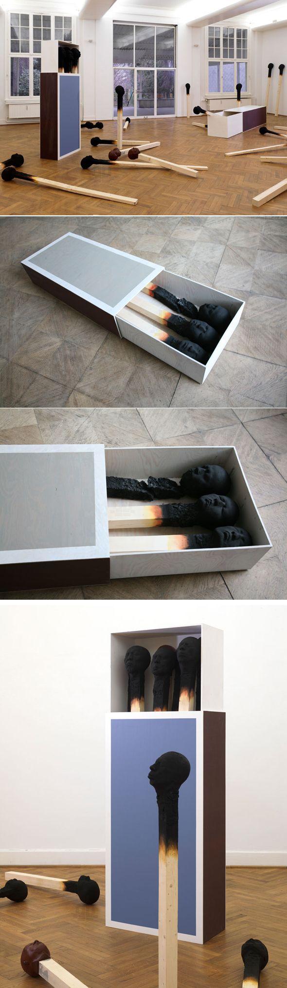 Brûler la vie par les deux bouts L'artiste allemand Wolfgang stiller présentera ses charmants portraits carbonisés