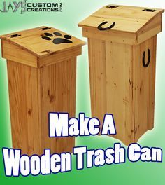 Free Diy Project Plan Learn How To Make A Wooden Trash