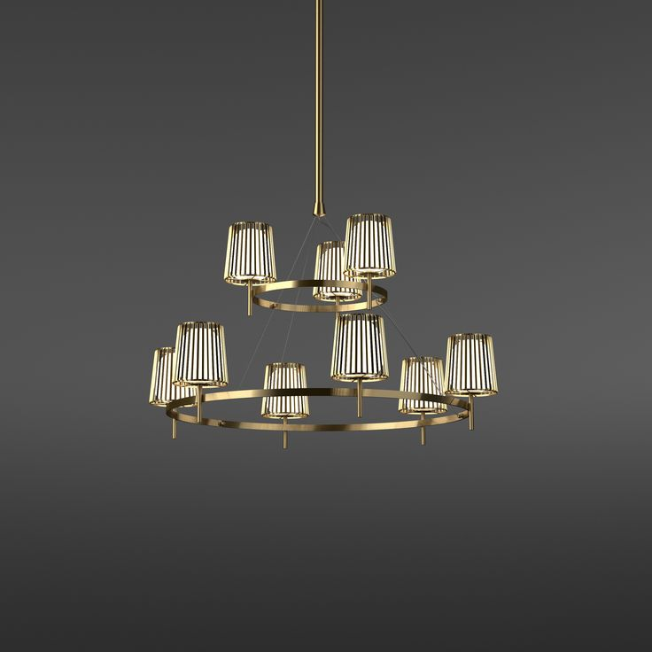 Julia suspension, shade metal and glas, #quasar, #danielbecker,