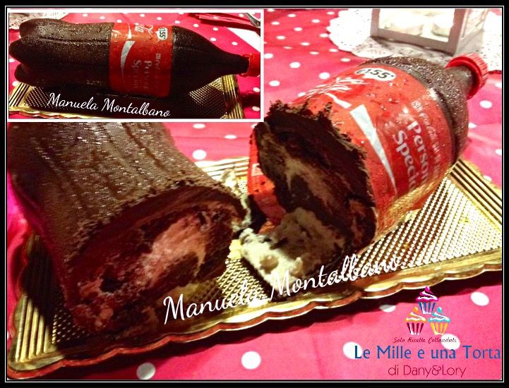 TORTA BOTTIGLIA DI COCA-COLA, CON E SENZA BIMBY RICETTA DI: MANUELA MONTALBANO Per il simil Pan di spagna al cioccolato: 150 g di farina 00