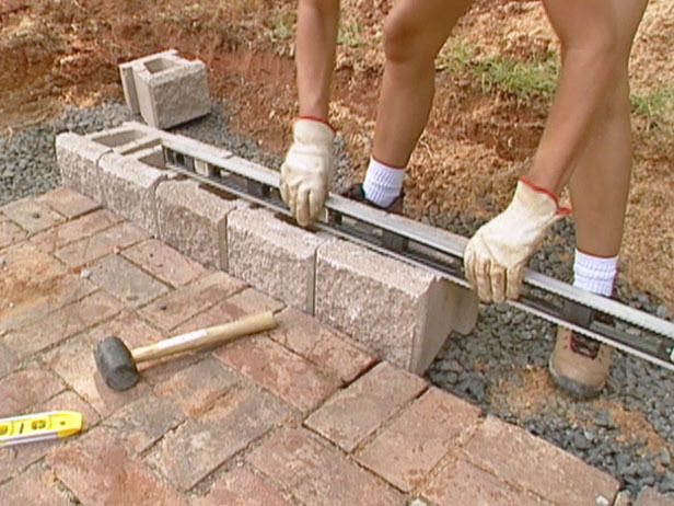 Use Stone Adhesive In Building A Retention Wall