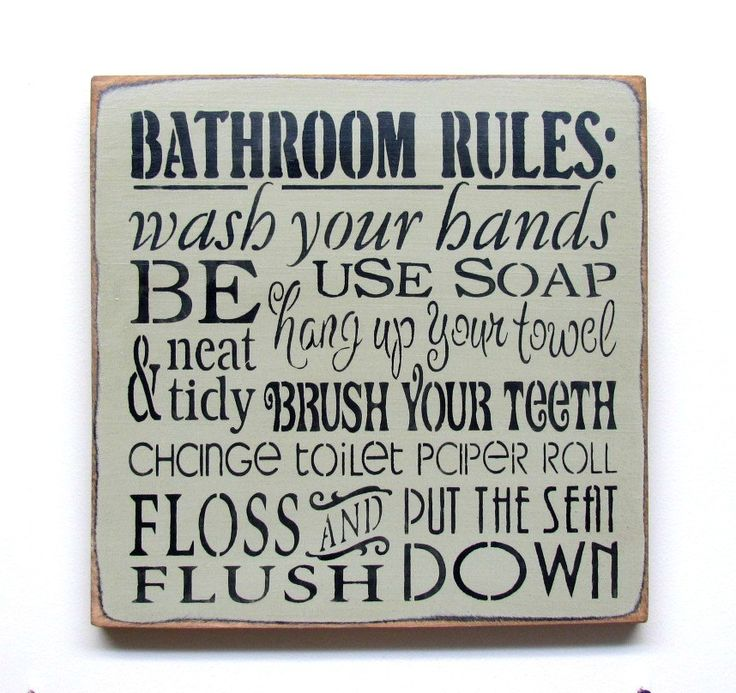 Image Result For Bathroom Rules
