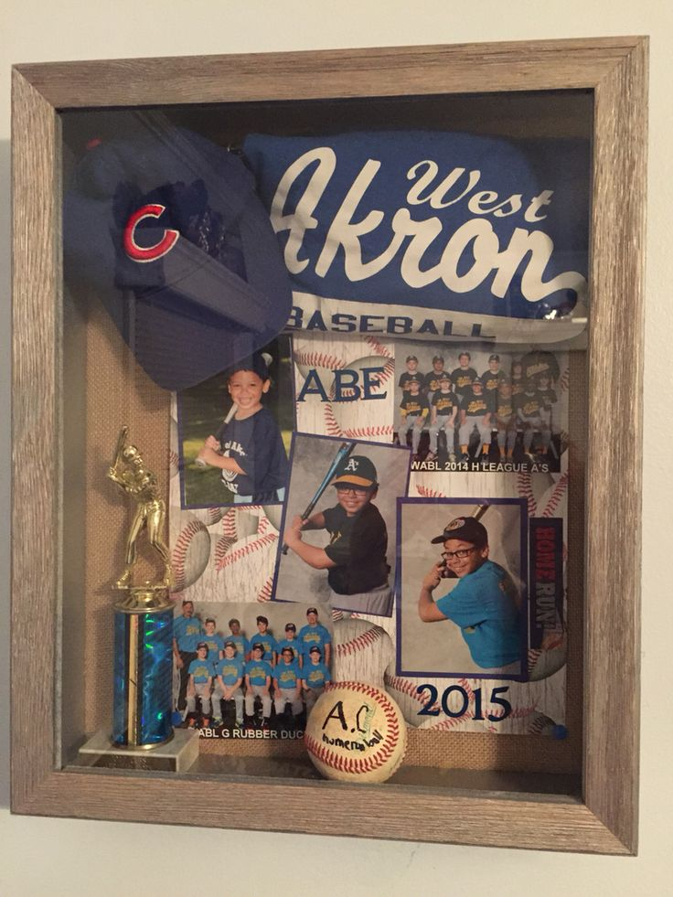 I made this baseball shadow box for my son's 12th birthday gift.