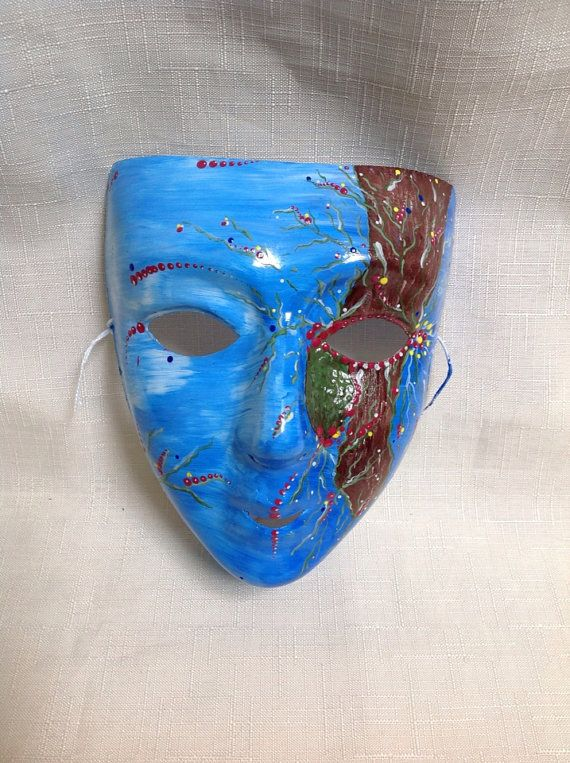 Hand painted  face mask. on Etsy, $25.00 AUD