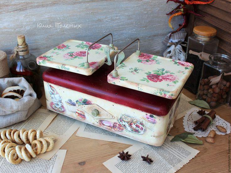 """Купить Весы для кухни """"Sweet rose"""" - комбинированный, весы, ретро стиль, винтаж ссср"""