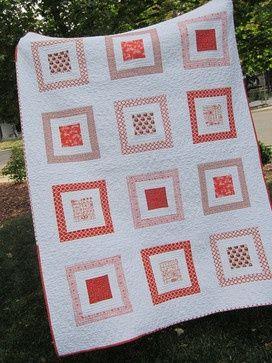 Orange Modern Quilt, Owls by 2Peeps - modern - quilts