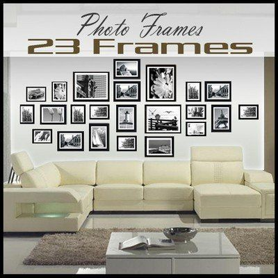 Large Multi Picture Photo Frames Wall Set 23 Pieces Set (White, Black or Brown) (Black) by Lillyvale, http://www.amazon.co.uk/dp/B00BN6PZ2I/ref=cm_sw_r_pi_dp_7KL.rb1WXQDGF
